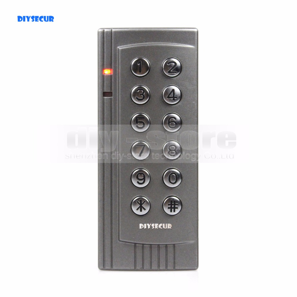DIYSECUR Proximity RFID 125KHz Card Reader Access Control System Kit Keypad Control Panel For Office / Home Improve K4 usb pos numeric keypad card reader white