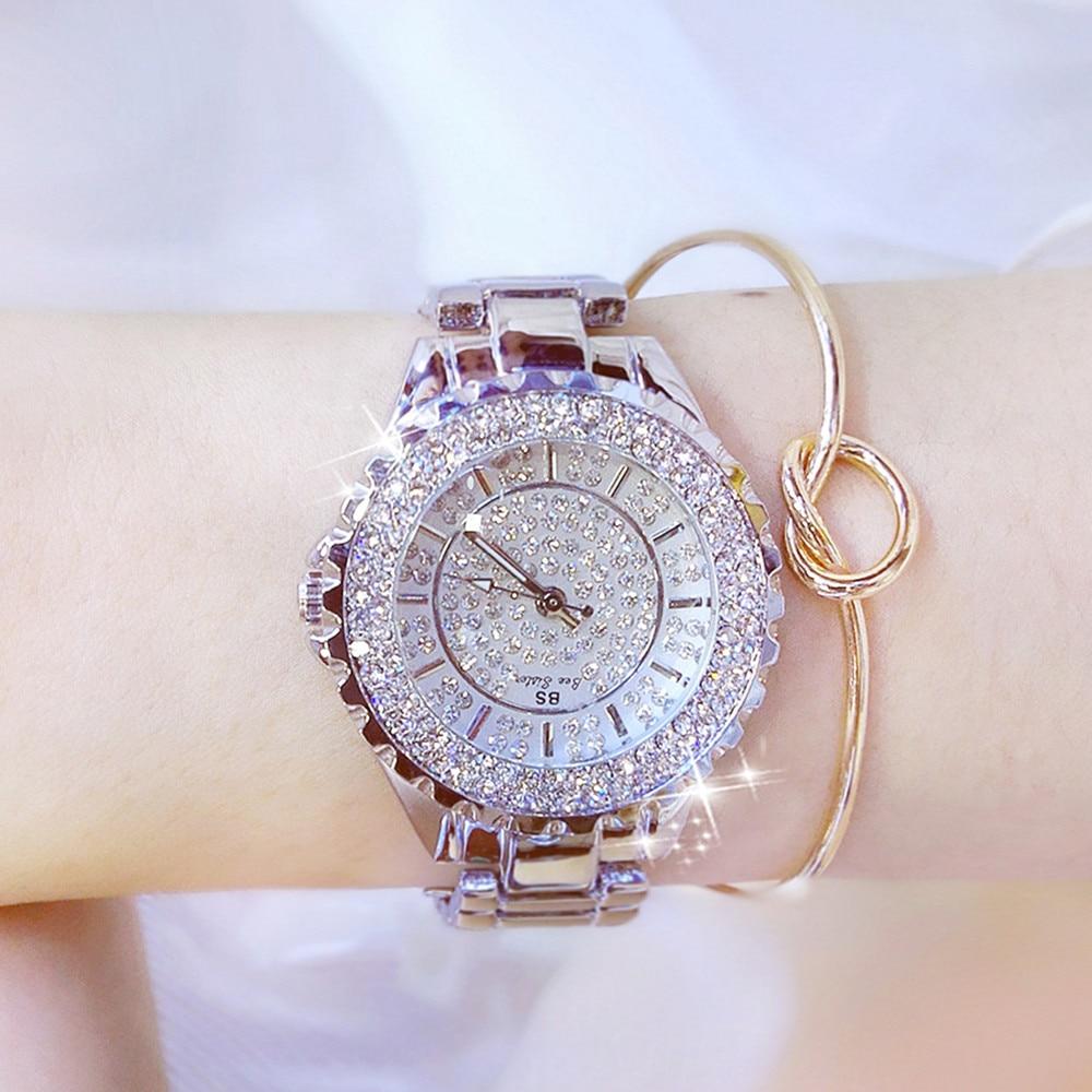Kobiety Rhinestone Zegarki Pani Diament Stone Dress Watch Bransoletka - Zegarki damskie - Zdjęcie 1
