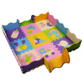 Rastejando Esteira do Jogo do bebê 30*30 CM Pad Subida puzzle esteiras de Frutas letras E Happy Farm Brinquedos Do Bebê Playmat Crianças Tapete Bebê jogo