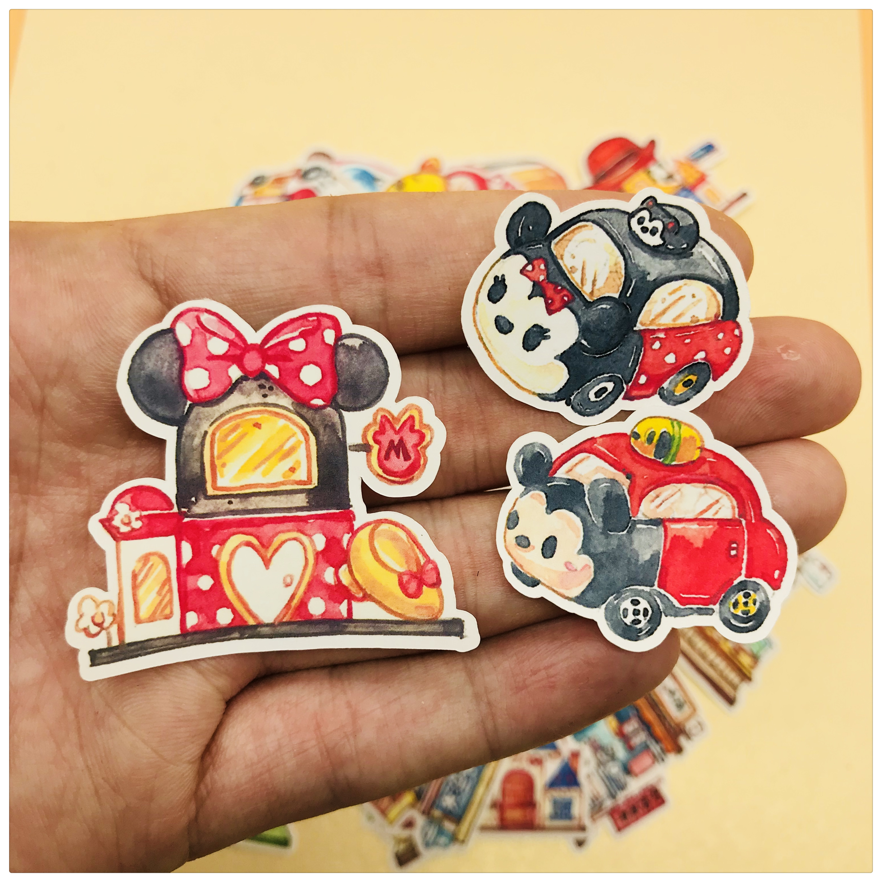35pcs Cute Cartoon Character And Building  Decoration Stationery Sticker Diy Diary Scrapbooking Label Sticker Stationery