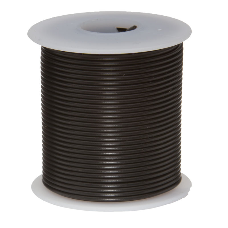 30Meters Black <font><b>28AWG</b></font> UL1007 <font><b>Cable</b></font> Electronic Wire To Internal Wiring Electrical Wires DIY <font><b>Cables</b></font> 100FT 28 AWG image