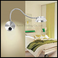 2016 New 5W LED Silver aluminum wall lamp bedroom bedside kitchen living room home wall lights reading studying room wall sconce