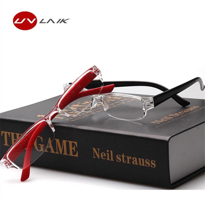 Mode Half-frame Leesbrillen voor mannen Dames Lezers Klein ultralichte brillen Hyperopia Harsbrillen Anti-vermoeidheid