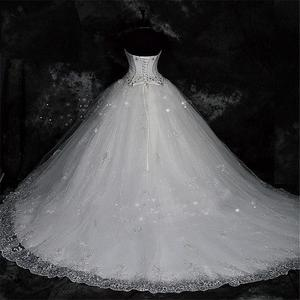 Image 2 - QQ Lover 2020  New Ball Gown Lace Wedding Dresses Shiny Beading Wedding Gowns Bride Dress
