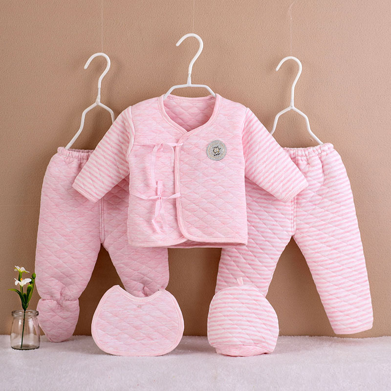 Baby Girls Clothes Infant Cotton 5PCS/Set Autumn/Winter Newborn Boys Underwear