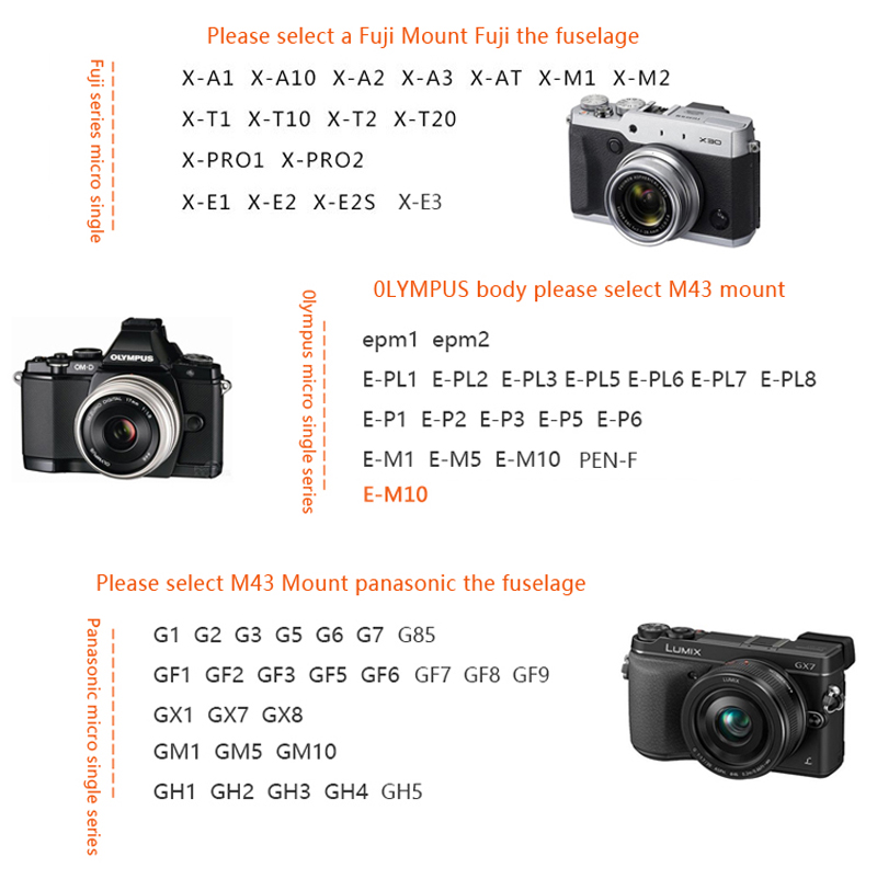 7artisans 25mm f1.8 prime lens for sony e mount /fujifilm/canon eos-m mout micro 4/3 cameras a7 a7ii a7r