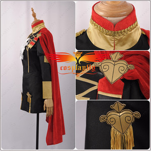 Image 3 - Fire Emblem: Three Houses Edelgard Fancy Battle Stage Girls Cosplay Costume Adult Women Outfit Top Shorts Cloak Stock Halloween