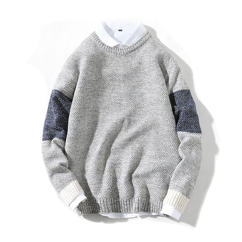 Men's Sweater Clothing Round-Neck Warm Autumn Winter Casual Trend And Straight-Tube Wild