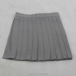 Image 4 - تنورات نسائية ذات ثنيات رمادية تنورة ذات ثنيات لفصل الصيف زي مدرسي ياباني تنورات نسائية متناسقة