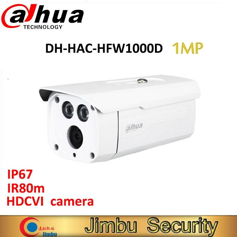 все цены на Original Dahua 1MP 720P Waterproof HDCVI camera IR-Bullet Camera HAC-HFW1000D IR 80m M12 онлайн