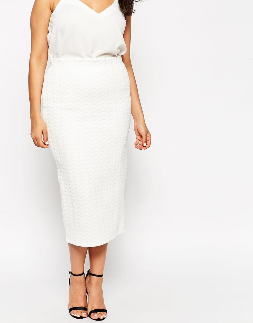 Aliexpress.com : Buy Mid Calf Pencil Skirt Plus Size Slim Long ...