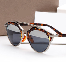 JIE.B Brand Design Sunglasses For Women Glasses Cat Eye Sun Glasses Men So Real Female Vintage Half Coating Oculos De Sol