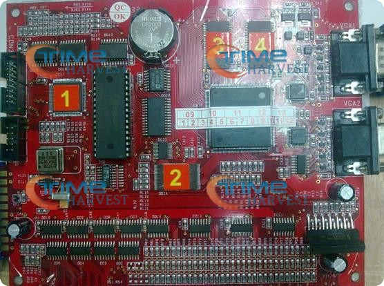 Multi gambling board/red board PCB/VGA game PCB 9 in 1 casino game pcb for LCD slot arcade game machine/gambling machine sanwa button and joystick use in video game console with multi games 520 in 1