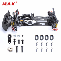1/10 Scale Black Car Frame Kit G4 Alloy & Carbon Fiber Drift Frame RC 4WD Drift Racing Car Accessory