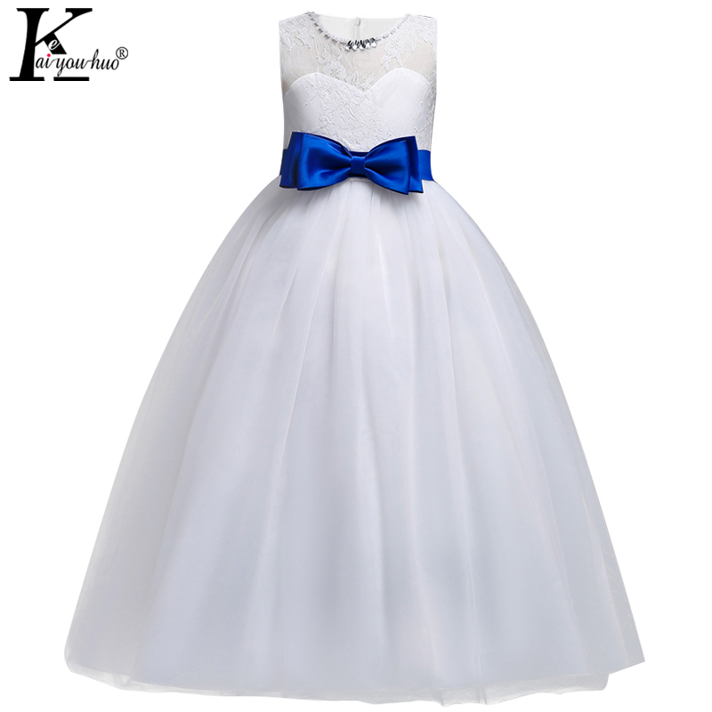New 2018 Girls Dress Summer Communion Brithday Party Kids Dresses Costume For Girls Wedding Dresses For Girls Children Clothing high quality vestidos children clothing new girls red wedding dress summer party dresses for kids costume flower chiffon clothes