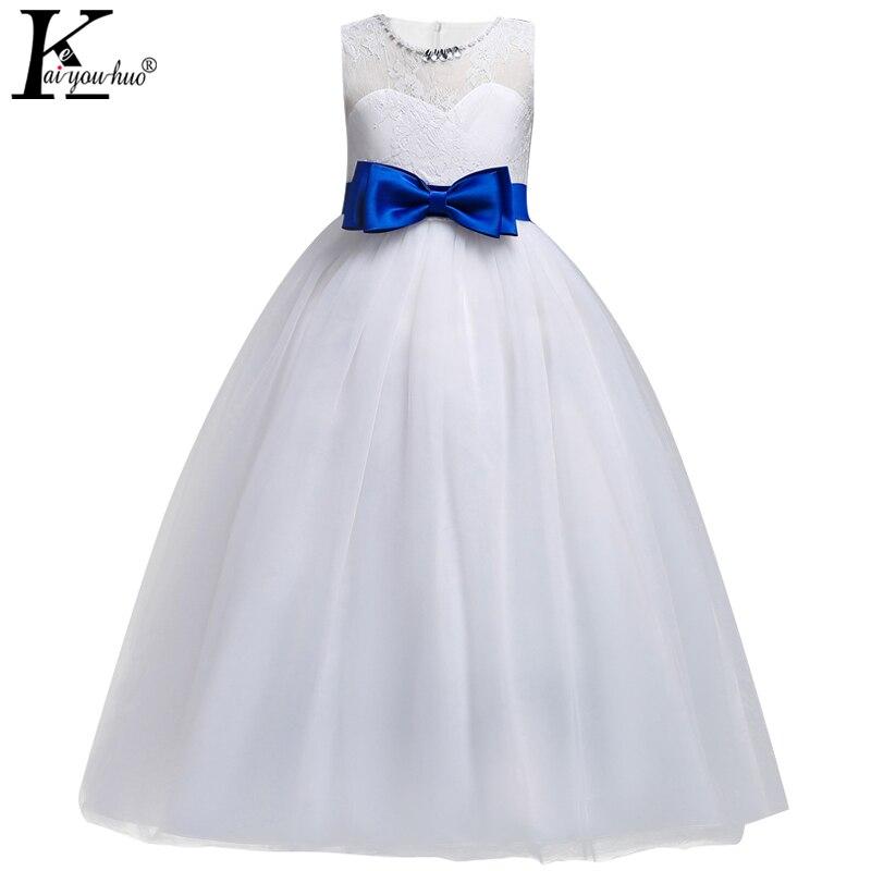 New 2018 Girls Dress Summer Communion Brithday Party Kids Dresses Costume For Girls Wedding Dresses For Girls Children Clothing kids party dresses for girls 2018 new