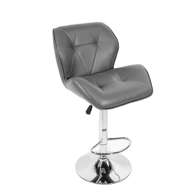 Taburete de bar giratorio cromo silla altura ajustable Venta ...