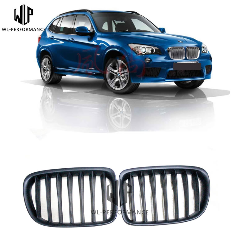 X1 series ABS Racing Grills matte black Mesh Grill Car body kit  for BMW X1 E84 2010-UP Car styling useX1 series ABS Racing Grills matte black Mesh Grill Car body kit  for BMW X1 E84 2010-UP Car styling use