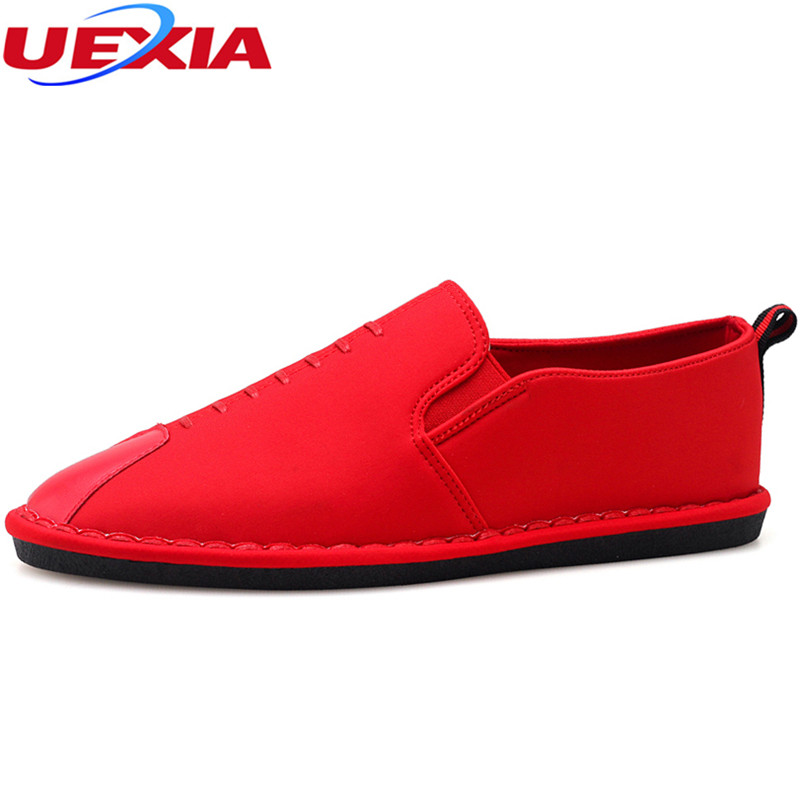 UEXIA 2018 Spring Mens Casual Flats Walking Shoes Men Summer Lightweight Breathable Sneakers Man Shoes Lace-up Zapatillas Hombre