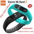 Original xiaomi mi banda 2 miband pulseira inteligente pulseira oled toque scren freqüência cardíaca rastreador de fitness cinta para xiaomi miband 2