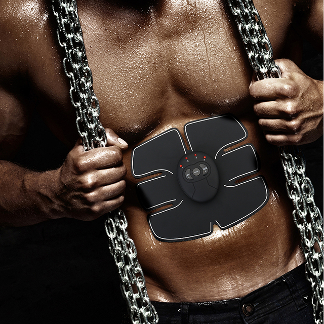 Drop shipping Abdominal machine electric muscle stimulator ABS ems Trainer fitness Weight loss Body slimming Massage with box