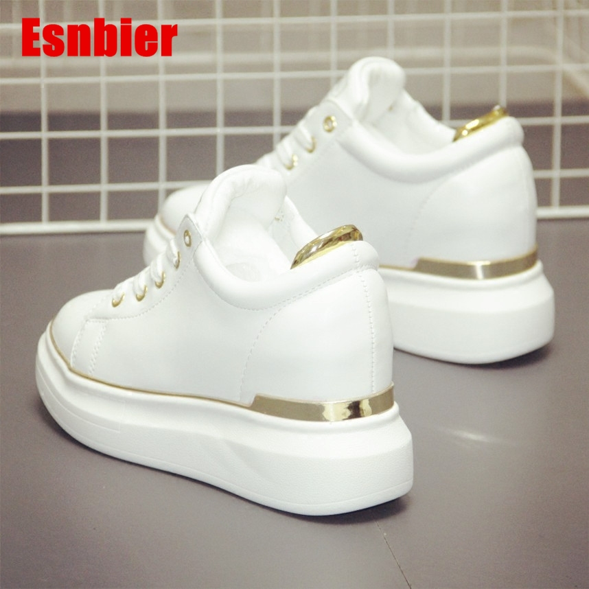 Women Sneakers 2019 Spring Autumn Vulcanized Shoes Ladies Casual Shoes Breathable Walking Pu leather Flat Shoes Tenis Feminino