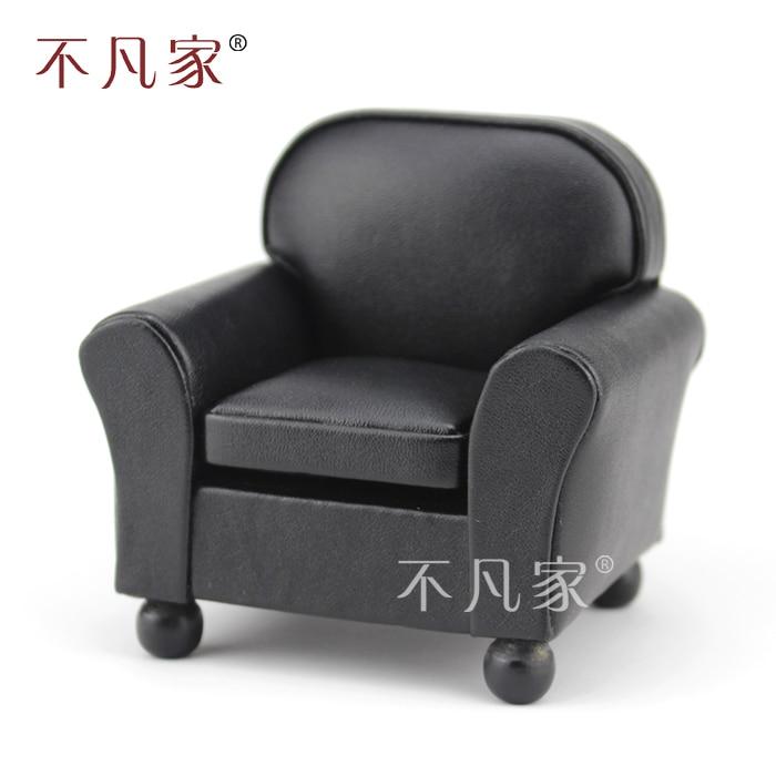 Fine 1/12 Scale Miniature Luxurious Elegant Grand black Armchair for Dollhouse