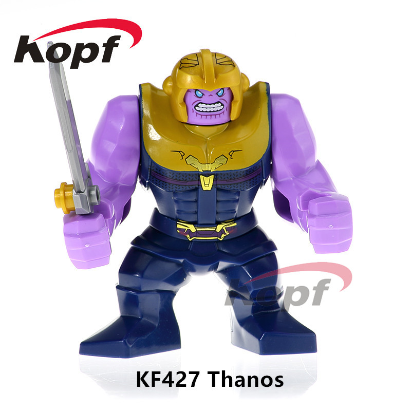 Single Sale Super Heroes INFINITY WAR Thanos Captain America Spiderman Vision Building Blocks Bricks Children Toys Gift KF427 single sale building blocks super heroes bob ross american painter the joy of painting bricks education toys children gift kf982