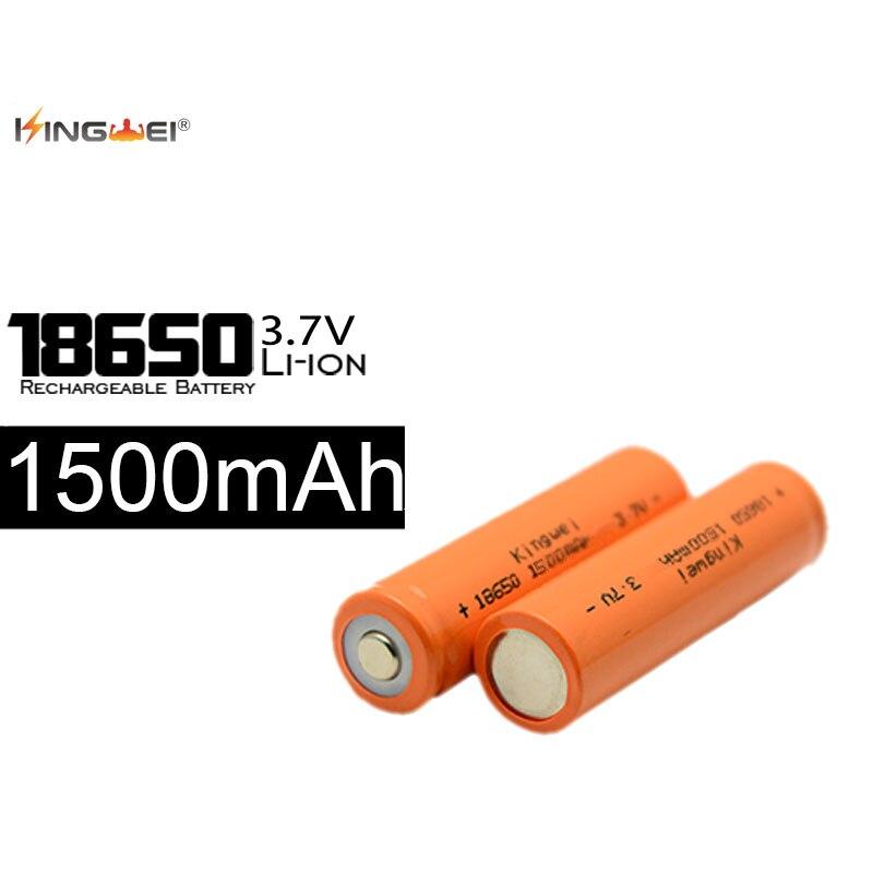 KingWei Orange 100 pièces 18650 1500 mAh Li-ion batterie Rechargeable 3.7 v Batteries PowerBank livraison gratuite