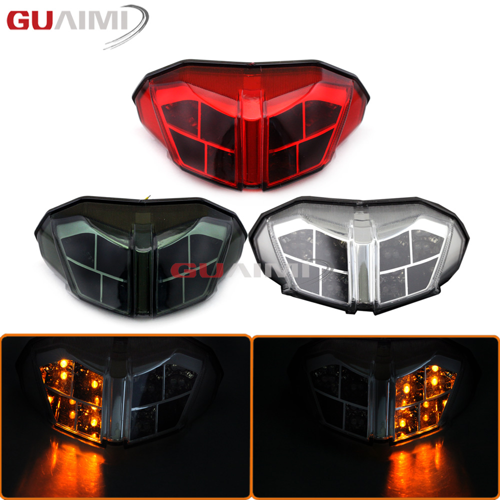 For DUCATI Streetfighter 848 1100 2012 2013 2014 Motorcycle Integrated LED Tail Light Turn signal Blinker Lamp