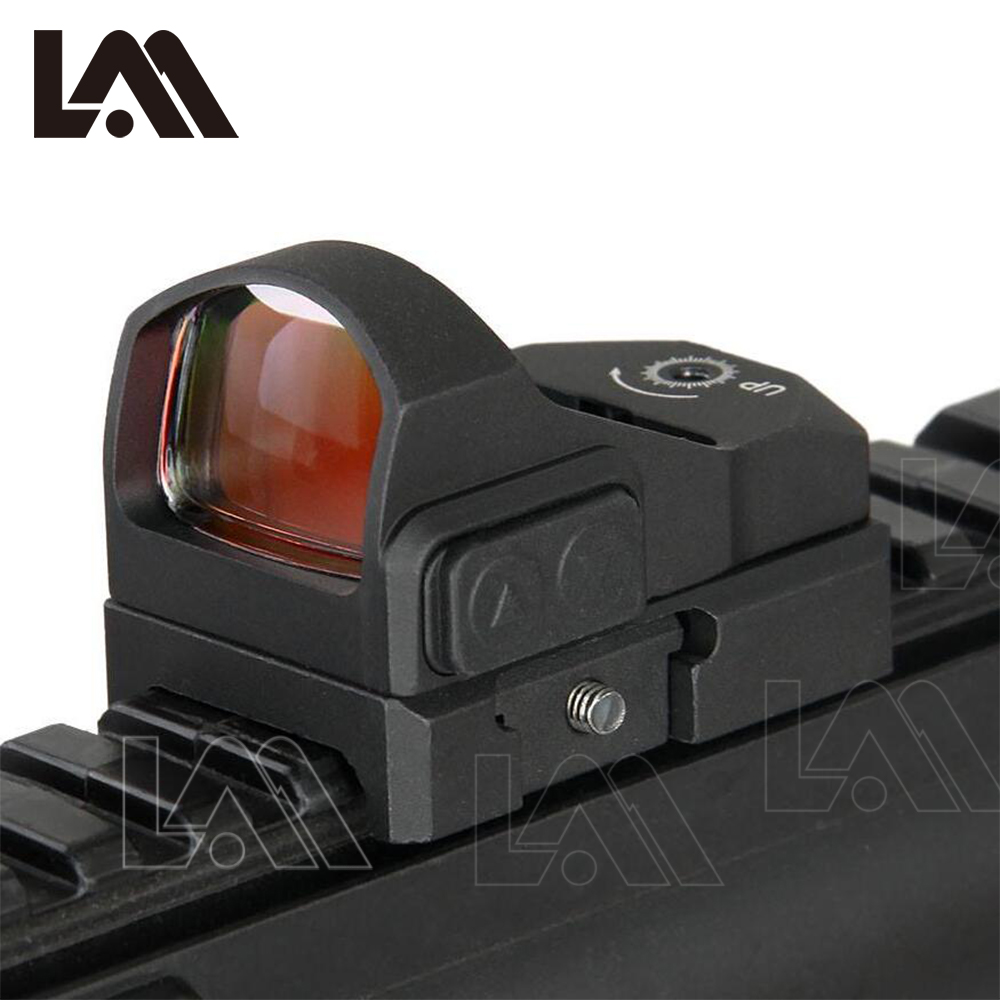 LAMBUL Tactique Venin Rouge dot Sight Pistolet Visant Poulain 1911 Glock Portée Chasse Sight Mont Holographique sight Reflex