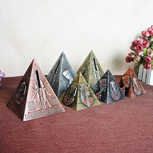 New Egyptian pyramid miracle work fine tourism souvenir piggy bank model desk decoration  christmas gift