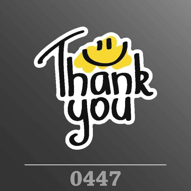 Single pvc waterproof thank you decal sticker car or truck custom stickers car styling