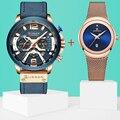 CURREN Мужские часы лучший бренд класса люкс мужские военные кожаные спортивные часы водонепроницаемые кварцевые мужские наручные часы