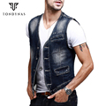 Man denim vest,male print fashion cowboy vest 15016