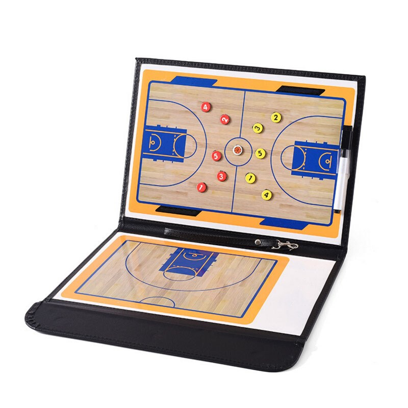 2 Style Basketball Tactics Board Professional Basketball Coaching Board Double-sided Coaches Tactics Board Basketball Accessory
