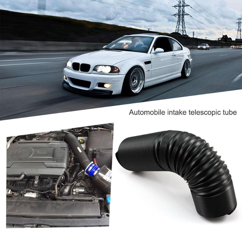 Universal 63mm 2.5in Black Flexible Telescopic Air Cleaner Intake Hose Reducer Motorcycle Car Air Cleaner Connector Car Styling