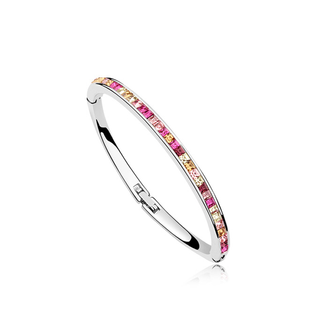 Vintage Retro Woman New Bangle Crystal from Swarovski Design Crystals Elements Bracelet for Female Trendy Lady Pulseira Jewelry