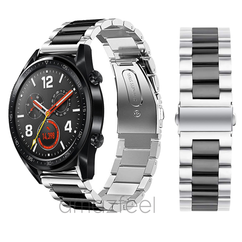 Stainless Steel Watch Band Bracelet For Huawei Watch GT Honor Magic Watch 2pro Strap Metal For Huawei gt 2 46mm Watch band 22mm(China)