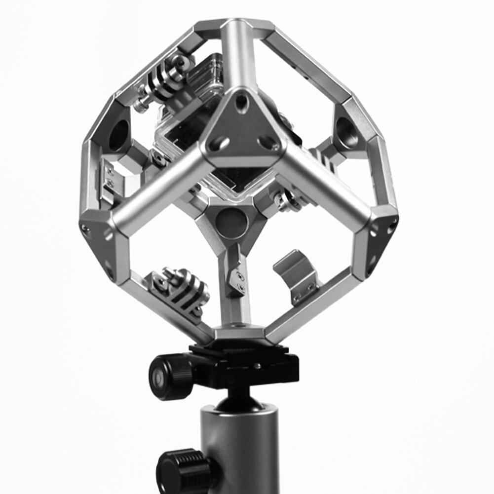 Plongée 720 panorama omni support pour vr tournage xiaomi yi action sports caméras avec 1/4 vis, 3/8 vis l3fe