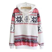 Women Christmas Snow Hoodie Jumper Sweatershirt Hooded Pullover Dropshipping  Women's Fashion Sweatshirt