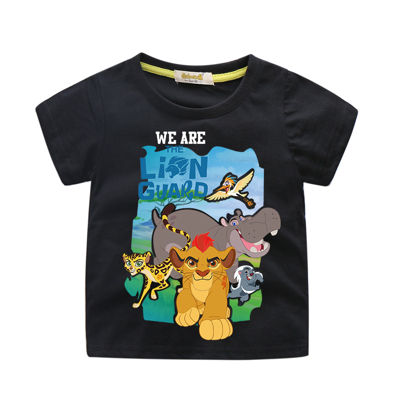 bf0c3961c294 Children Cartoon The Lion King Simba Printing Tee Tops Boy Summer Short T-shirt  Clothes Girls T Shirt Clothing For Kids