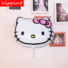 VIPOINT PARTY 18inch white cats foil balloons wedding event christmas halloween festival birthday party HY-300