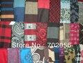 Смешанная серия мужские кашемир шерсть вискоза смесь шарфы обертывания шаль шарф украл цвета смешанного стиля 20 шт./лот # 1000