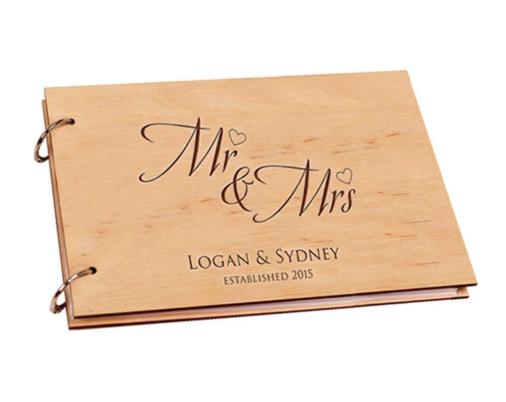 Personalized Wooden DIY Wedding Guest Book қолтаңба Custom - Мерекелік және кешкі заттар - фото 2