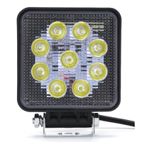 1 Piece Square Led 27W LED Work Light Bar For Indicators Motorcycle Driving Offroad Boat Car