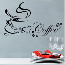 Removable Wall Sticker Home Decor Coffee Wall Art  Kitchen Wall Decal Vinyl Mural GW-1