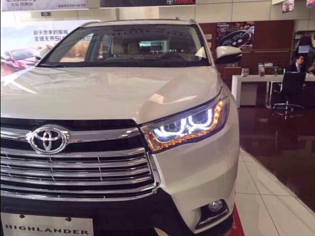 Free Ship 2017 2016 Toyota Highlander Headlight With Xenon Projector Lens Hid Director Light U Ccfl Optional Ballast Good In Car Embly From
