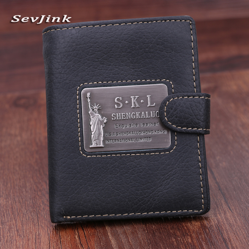 High Quality Men Wallet Genuine Leather Fashion Design Large Capacity Men Purses Cowhide Wallets Card Holder Coin Pocket For Man