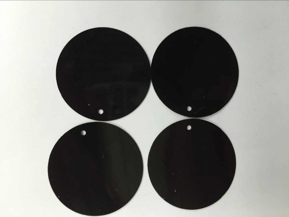 50g Büyük Yuvarlak Pul 30mm PVC Pullu Düz Yuvarlak Madeni Pul Dekorasyon Için Yan Delikli Dans Elbise Siyah Konfeti payetler